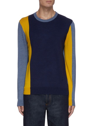 Main View - Click To Enlarge - JW ANDERSON - Colourblock crewneck sweater