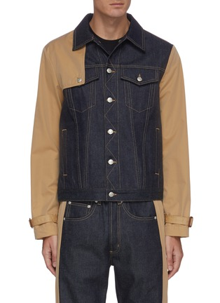 Main View - Click To Enlarge - ALEXANDER MCQUEEN - Hybrid denim trench jacket