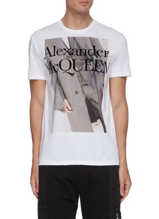 Main View - Click To Enlarge - ALEXANDER MCQUEEN - Atelier graphic print T-shirt