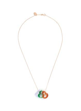 Main View - Click To Enlarge - SAMUEL KUNG - Jade jadeite 18k rose gold necklace