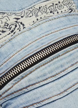 - AMIRI - 'MX2' bandana knee zip jeans