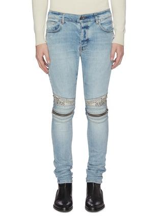 Main View - Click To Enlarge - AMIRI - 'MX2' bandana knee zip jeans
