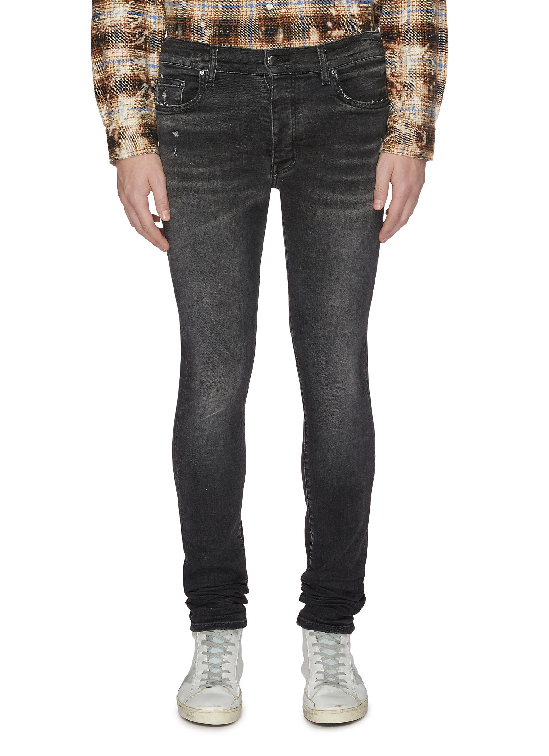 Skinny stack jeans