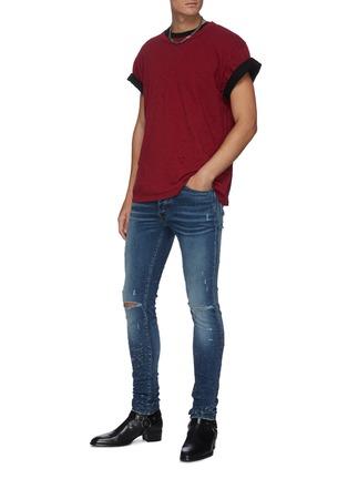 Figure View - Click To Enlarge - AMIRI - 'Shotgun' distressed skinny jeans