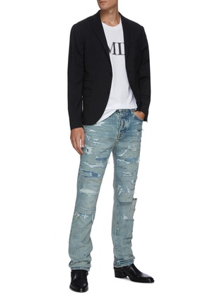 Figure View - Click To Enlarge - AMIRI - 'Bruise' distressed jeans