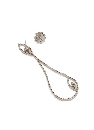 Detail View - Click To Enlarge - ROBERTO COIN - Diamond Princess' diamond 18k white gold earrings