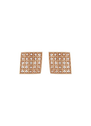 Main View - Click To Enlarge - ROBERTO COIN - Roman Barocco' diamond 18k rose gold earrings