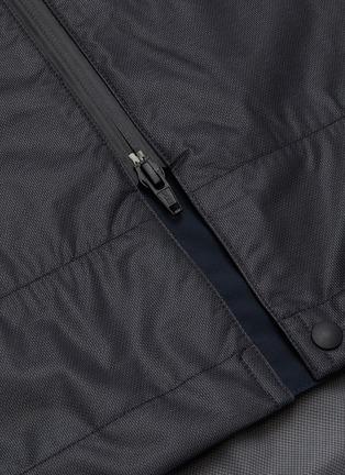 - Y-3 - Waterproof buckle strap front hooded parka