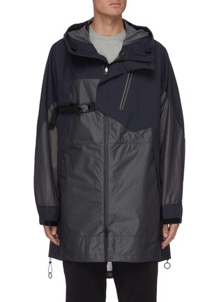 Main View - Click To Enlarge - Y-3 - Waterproof buckle strap front hooded parka