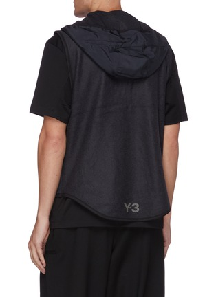 Back View - Click To Enlarge - Y-3 - Buckle strap zip front hooded jacket