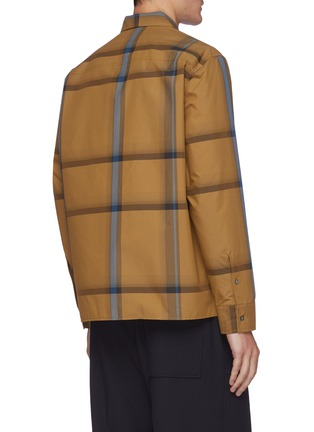 Back View - Click To Enlarge - 3.1 PHILLIP LIM - Oversized check shirt