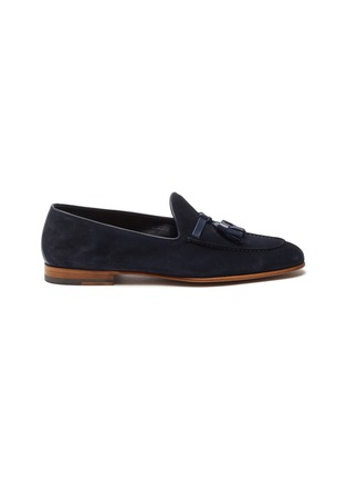 Main View - Click To Enlarge - MALONE SOULIERS - Alberto tassel detail sculpted loafers