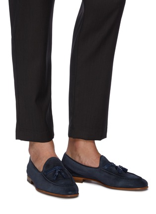 Figure View - Click To Enlarge - MALONE SOULIERS - Alberto tassel detail sculpted loafers