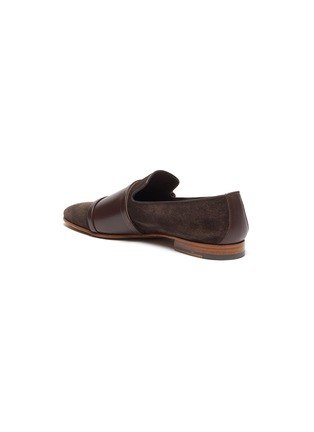 - MALONE SOULIERS - Julian Florens double strap suede leather loafers