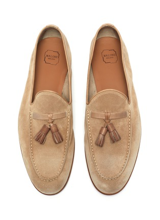 Detail View - Click To Enlarge - MALONE SOULIERS - Alberto tassel suede leather loafers