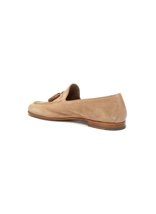 - MALONE SOULIERS - Alberto tassel suede leather loafers
