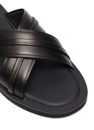 Detail View - Click To Enlarge - MALONE SOULIERS - Gabriel cross strap leather flat sandals