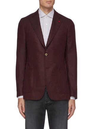 Main View - Click To Enlarge - ISAIA - Cortina notch lapel patch pocket wool blend blazer