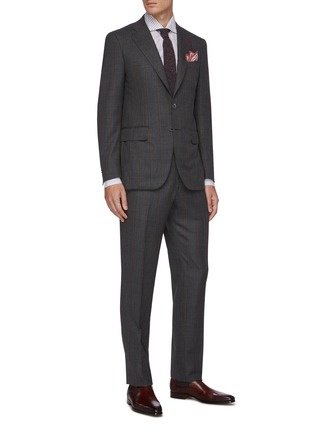 Figure View - Click To Enlarge - ISAIA - Gregory notch lapel flap pocket stripe wool suit