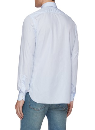 Back View - Click To Enlarge - ISAIA - Parma stripe cotton shirt