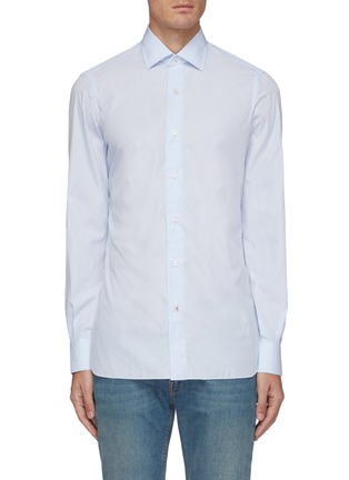 Main View - Click To Enlarge - ISAIA - Parma stripe cotton shirt