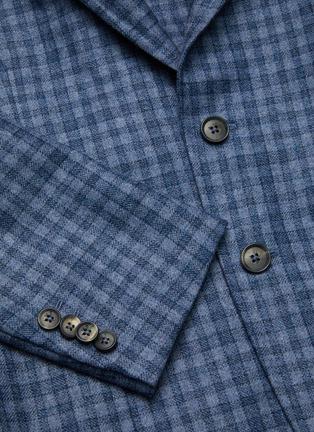 - ISAIA - Cortina notch lapel check wool blend blazer