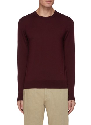 Main View - Click To Enlarge - ISAIA - Classic crewneck wool sweater