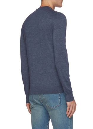 Back View - Click To Enlarge - ISAIA - Classic crewneck wool sweater