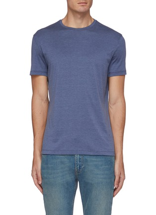 Main View - Click To Enlarge - ISAIA - Crewneck silk cotton blend T-shirt