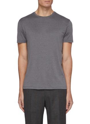 Main View - Click To Enlarge - ISAIA - Crewneck silk cotton blend T-shirt