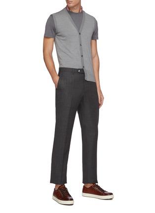Figure View - Click To Enlarge - ISAIA - Crewneck silk cotton blend T-shirt