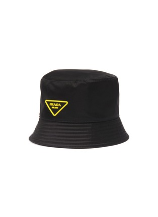 Main View - Click To Enlarge - PRADA - Rubber triangle logo bucket hat