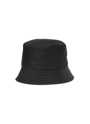 Figure View - Click To Enlarge - PRADA - Rubber triangle logo bucket hat