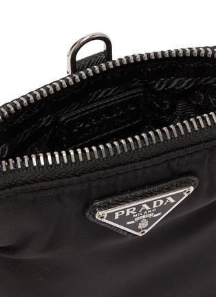 Detail View - Click To Enlarge - PRADA - Tessuto logo plaque neck strap tech pouch