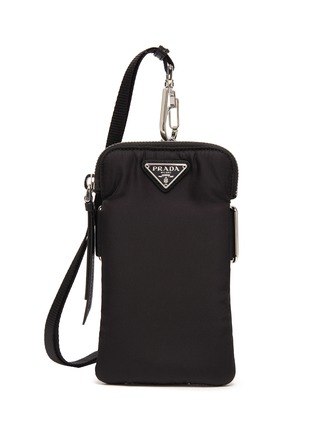 Main View - Click To Enlarge - PRADA - Tessuto logo plaque neck strap tech pouch