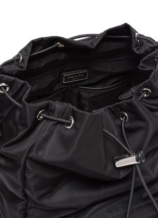 Detail View - Click To Enlarge - PRADA - Tessuto logo plaque nylon backpack