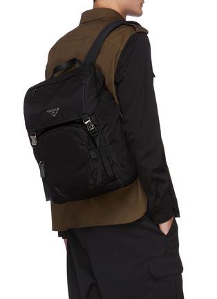 Figure View - Click To Enlarge - PRADA - Tessuto logo plaque nylon backpack
