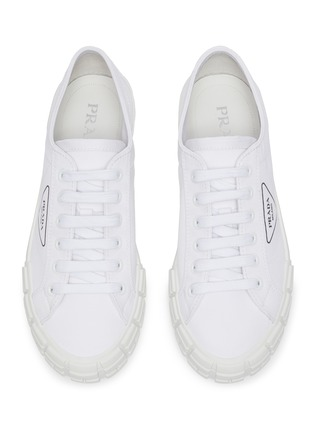 Detail View - Click To Enlarge - PRADA - Tyre sole gabardine sneakers