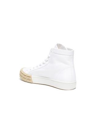 - PRADA - Tyre sole gabardine high top sneakers