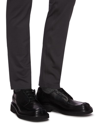Figure View - Click To Enlarge - PRADA - Split toe derby shoes