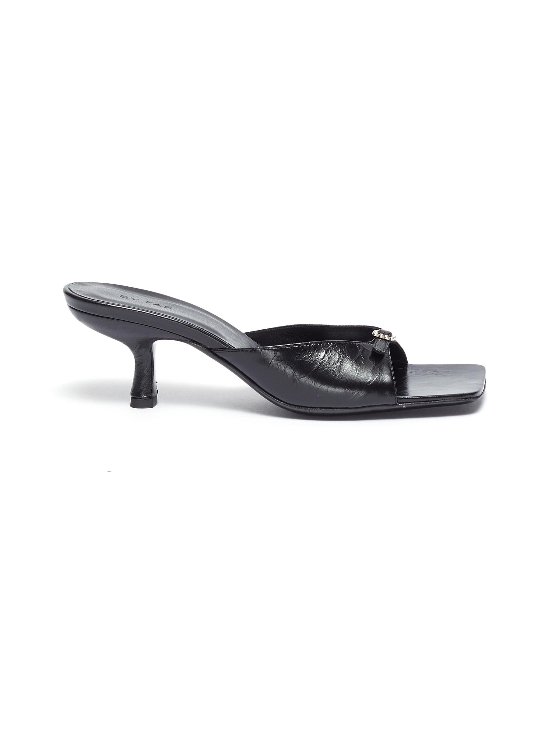 Erin' buckle band square toe mules