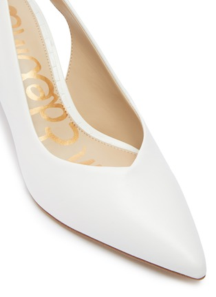 Detail View - Click To Enlarge - SAM EDELMAN - Jeckel sweetheart vamp sling back heeled sandals