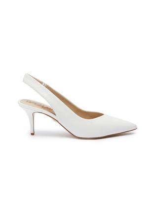 Main View - Click To Enlarge - SAM EDELMAN - Jeckel sweetheart vamp sling back heeled sandals