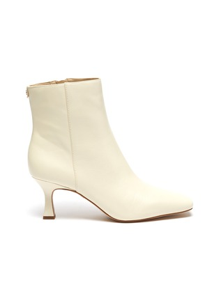 Main View - Click To Enlarge - SAM EDELMAN - 'Lizzo' square toe leather ankle boots