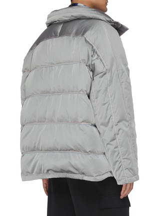 Back View - Click To Enlarge - ANGEL CHEN - Snap button puff jacket