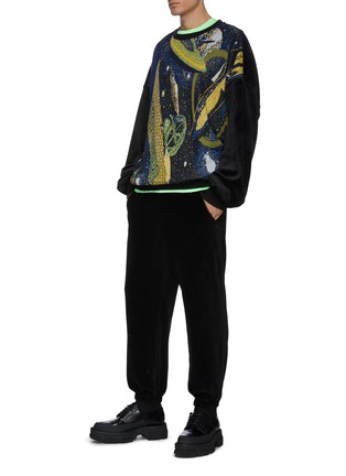 Figure View - Click To Enlarge - ANGEL CHEN - 'Universe' mixed embroidery sweater