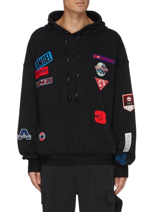 Main View - Click To Enlarge - ANGEL CHEN - Mixed patch hoodie