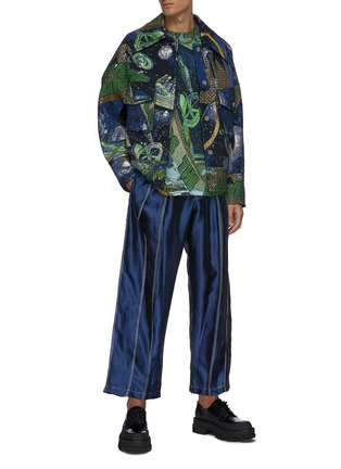 Figure View - Click To Enlarge - ANGEL CHEN - Universe' mixed embroidery jacquard jacket