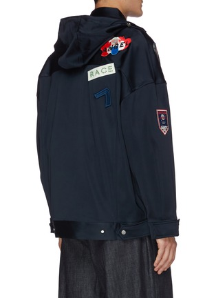 Back View - Click To Enlarge - ANGEL CHEN - Mixed patch anorak jacket