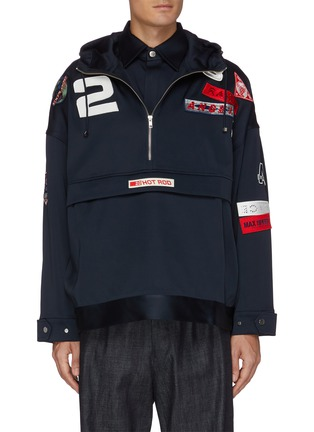 Main View - Click To Enlarge - ANGEL CHEN - Mixed patch anorak jacket